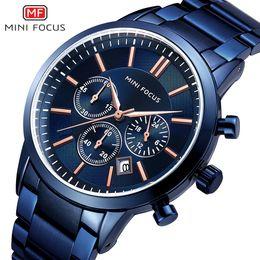 $enCountryForm.capitalKeyWord Australia - Mini Focus Trend More Function Male Wrist Watch Calendar Waterproof Stainless Steel Watchband 0188g
