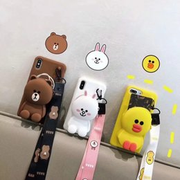 $enCountryForm.capitalKeyWord Australia - Cute Cartoon 3D Bear Rabbit Duck Cartoon Animal Wallet Phone Case For iPhone X XR XS Max Soft Silicone Cover For iPhone 8 7 6 Plus Back Capa