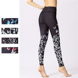$enCountryForm.capitalKeyWord NZ - Womens Butterfly Digital Print Yoga Pants Workout Athletic Tights Fitness Leggings Super Elastic Cropped Pants Running Riding Sport Trousers
