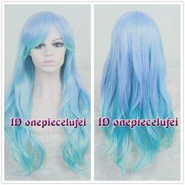 Discount purple hair lolita cosplay - Long Charm Blue Mix Purple Wavy Curly Lolita Hair Wigs Cosplay Costume Wig>>>>>Free shipping New High Qua