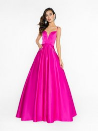 $enCountryForm.capitalKeyWord UK - Eye-catching 2019 A-Line Fuchsia Prom Dresses With Beaded Pockets Sweetheart Neck Lace-up Back Long Formal Dresses Evening Gowns