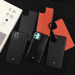 Ingrosso Lussuosa custodia in pelle per iPhone Pro 11 Max X Xs Max Xr 8 7plus stilista di caso di marca indietro
