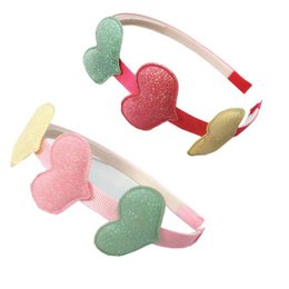 $enCountryForm.capitalKeyWord NZ - Fashion LOVE glisten kids Hair Sticks Boutique designer headband Girls designer headbands baby headbands princess hair accessories A4514