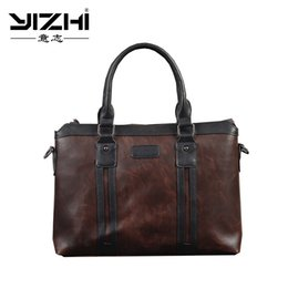 $enCountryForm.capitalKeyWord Australia - YIZHI 2018 Business Men Briefcase Hook Opening Built-In Zipper PU Leather Large Capacity Shoulder Bag Laptop Bag #214969
