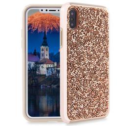 Caja del teléfono móvil TPU de taladro de flash de lujo PARA: iPhone Samsung Galaxy 7 8 xr xs máx s8 s9 s10 nota 8 9 más en venta