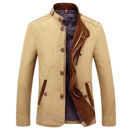 Long Windbreaker Jackets Australia - Spring Autumn Polyester Slim Fit Thin Stand Button Male Casual Jacket Men Short Windbreaker Jackets Coat Blue Khaki 4xl Nz43