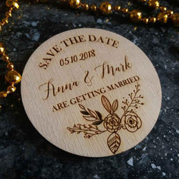 Custom wedding invitations online shopping - Save the Date magnets Custom Name Date Wood Save the Date magnet Round Circle Babyshower Guest Invitation Card Wedding Magnets