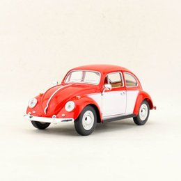 kids electric car free ship UK - Free Shipping KiNSMART Toy Diecast Model 1:24 Scale 1967 Volkswagen Classical Beetle Car Educational Collection Gift for Kid