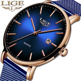$enCountryForm.capitalKeyWord Australia - Lige Fashion Mens Watches Top Brand Luxury Blue Waterproof Watches Ultra Thin Date Simple Casual Quartz Watch Men Sports Clock MX190724