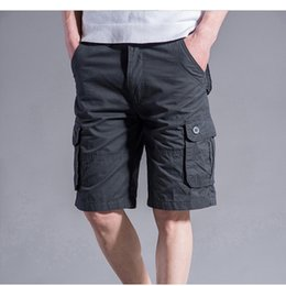 Wholesale cargo shorts big men online – Big Size XL XL XL Cargo Shorts Men Cool Summer Hot Sale Cotton Casual Men Short Pants Brand Clothing Camo Men Cargo Shorts T200512