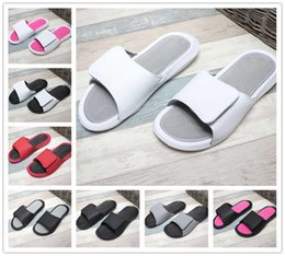 Discount unisex wood slippers - New 2019 summer Hook Loop 6 VI slippers 6s Slide sandals Hydro beach outdoor men women shoes casual running Sports Size