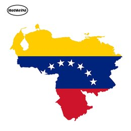$enCountryForm.capitalKeyWord NZ - wholesale 20pcs lot Car Styling Venezuela Map Flag Car Sticker Silhouette for Helmet Fridge Laptop Door Waterproof Accessories 13cmx11.7cm