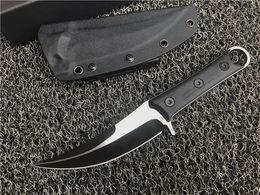 $enCountryForm.capitalKeyWord NZ - Special Offer SBK Fixed Blade Scimitar D2 Titanium Finish Blade CNC Black G10 Handle Karambit Claw Knife Machete Outdoor Tactical Gear