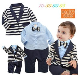 Toddler Boys Gifts Australia - baby boy clothes Newborn Outfits toddler boys clothes Boys Clothing Sets Boys Suits coat+ baby romper set Infant Wear Baby Gift A3284