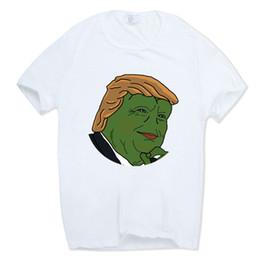 Frog T Shirts UK - 2019 Men Print Newest Creative Vote Pepe White T-shirt Short Sleeve O-neck Harajuku Animal Frog Funny Tshirt Hcp410