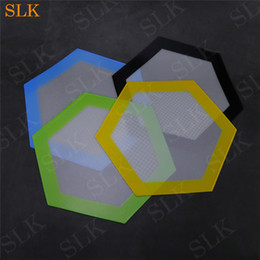 concentrate pad 2019 - Hexagon silicone mat Quality FDA food grade reusable non stick sheet concentrate bho wax slick oil pads heat resistant f