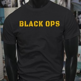b756ade6c Black Ops Yellow Military Army Special Forces Usa Mens Black T-Shirt T Shirt  For Men Printing White Short Sleeve Custom Big Size Family Tee