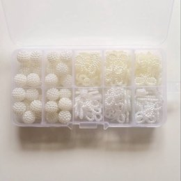 $enCountryForm.capitalKeyWord NZ - 10MM 19MM 160Pcs Pack Mix Ball Bowknot Plastic Pearl Acrylic Bead Jewellery Loose Beads