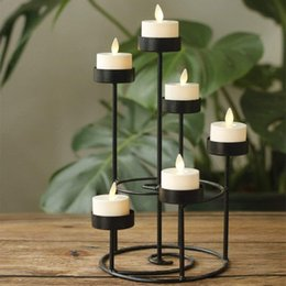 moving flameless candles Australia - Pack of 6 Remote or Not Remote Remote Control LED Candles Warm White Led Flameless Candles Battery Operated Moving Wick Tealight