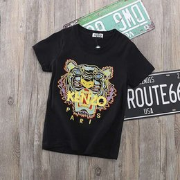Kids embroidered shirt online shopping - Kids Designer Shirts Summer New Arrival Fashion Tiger Head Embroidered Print T Shirt Casual Print Short Sleeve Multicolor Kids Clothes