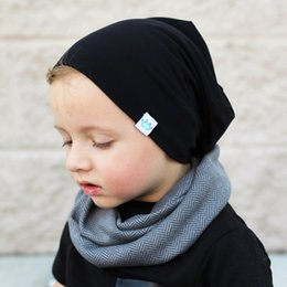 Boys Skull Hats NZ - Designer Kid Knitted Beanies Skull Winter Ears Head Warmer Slouchy Hats Snow Cap Children Warm Hats Hair Bonnet Solid Color For Gift Sale