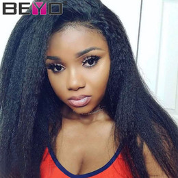 $enCountryForm.capitalKeyWord Australia - Raw Virgin Indian Hair Kinky Straight Full Lace Human Hair Wigs For Black Women Cheap 360 Full Lace Wig Remy Beyo