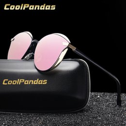 Pink Shades Australia - 2019 Summer Fashion Pink Mirror Polarized Cat Eye Sunglasses Women Driving Sun Glasses Shades Oculos Eyewear gafas de sol mujer