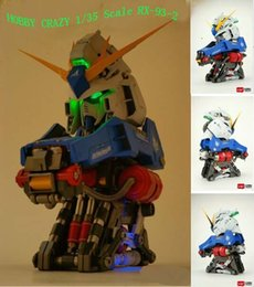 35 Figure Australia - 1 35 Scale RX-93-2 Hi-V High Nu Gundam Head PVC Action Figures Children's Birthday Gift Collection Handsel Orange Exoskeleton