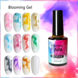 Wholesale 15ml Watercolor Ink Nail Polish Blooming Gel Smoke Effect Magic Smudge Bubble DIY Varnish Manicure Decoration Nail Art Salon Set