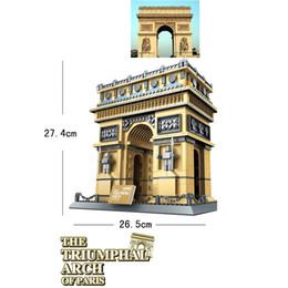 Toy Arch NZ - Diamond Blocks World Famous Architecture Paris Triumphal Arch Mini 3D Model Building Blocks DIY Assembly Bricks Toys