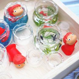 fish resin pendant 2019 - 5pcs Mini Fish Tank DIY Resin Charms Tools Transparent Goldfish Tanks Handmade Jewelry Pendant Mini Decoration discount