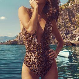 $enCountryForm.capitalKeyWord Australia - Sexy Girdle One Pieces Swimsuit Women V Neck Leopard Slim Swimwear 2019 Summer New Bandage Bathing Suit Belt Swimsuit Monokini Y19051801