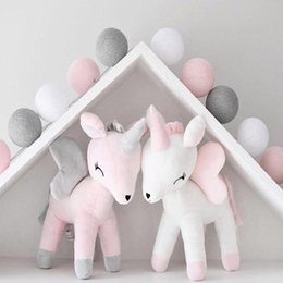 popular kids dolls 2019 - Plush Doll Toy Baby Cute Bolster Pillow Boys Girls Room Decorate Ornaments Kids Animals Stuffed PP Cotton Soft Popular B