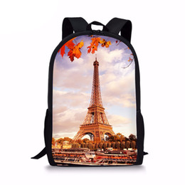 Discount top eiffel tower - Casual Paris Eiffel Tower Print Women Men Backpacks Lap Top Rucksack For Teens Girls Boys School Student Schoolbagssumka