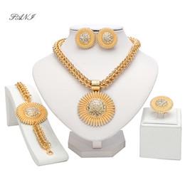 $enCountryForm.capitalKeyWord Australia - Fani Fashion African Beads Jewelry Set Wholesale Exquisite Dubai Gold Big Jewelry Set Brand Nigerian Wedding jewelry Set Bijoux