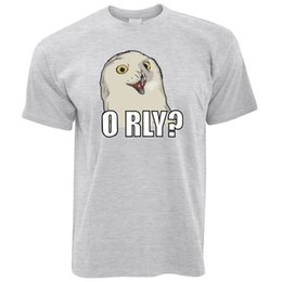 shirt size medium Canada - Joke Internet Meme T Shirt ORLY Snowy Owl Slogan Social Media Novelty Pun size discout hot new tshirt