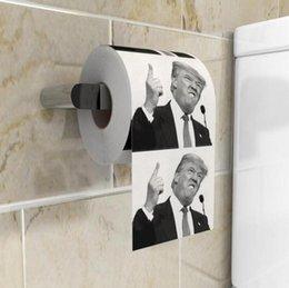 Trump papier toilette Joke Fun papier tissu créatif salle de bains drôle toilettes Président du papier Donald Trump toilettes Papiers OOA7905 en Solde