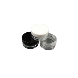 Art plAstic bottle cAps online shopping - Plastic Empty Jar Cosmetic Sample Clear Pot Acrylic Make up Eyeshadow Lip Balm Nail Art Piece Container Glitter Bottle Travel