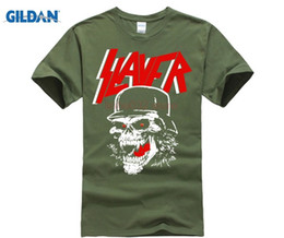 d149de271 Slayer T Shirts NZ - Plus Size Black Slayer T Shirt Men's British Style  Fashion Rock