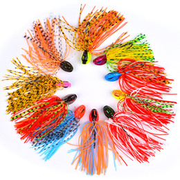 Fishing Lure Big Spinner Australia - jig spinner 1PC Squid Bass Jigs Spinner Fishing Lures 10 Colors Beard Tail Bass Baits with Big Single Hooks Fishing Tackle DW-360