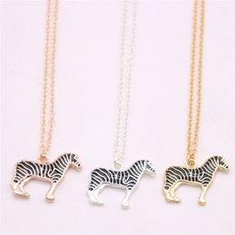 $enCountryForm.capitalKeyWord Australia - Newest multi-colored lovely zebra pendant necklace Lifelike zebra pendant necklace designed for women Retail and wholesale mix