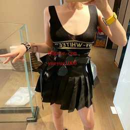 $enCountryForm.capitalKeyWord Australia - summer dresses women two piece outfits women Tracksuit Knit sleeveless T-shirt+High waist pleated skirt top quality women clothes BC-12