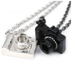 $enCountryForm.capitalKeyWord UK - Crystal Camera Necklace Pendant Vintage Silver Black Art Photographer Charms Collar Choker Necklaces Jewelry Fashion Women Gift Accessories