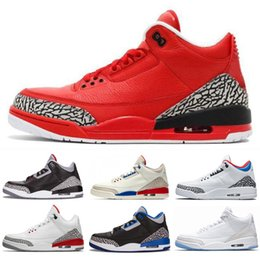 cyber shoes Australia - Classic Jumpman 3 Mens Kids Basketball Shoes Black Cement White Infrared Cyber Monday Fire Red Wolf Grey Sport Sneakers Athletics Trainers