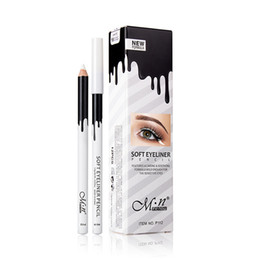 Wholesale Eye Pencils Australia - 2018 Newly White Eyeliner Makeup Soft Easy to Use Eyes Bleach Pencil Eye Pencil Waterproof Make Up White Eyes Liner Pencils
