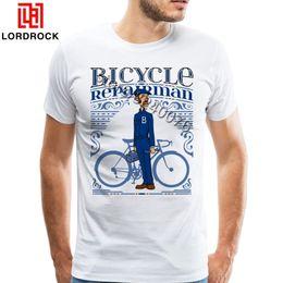 $enCountryForm.capitalKeyWord Australia - Cool Fashion Vintage Biker T Shirt Short Sleeve Men Bicycle Repairman Tee Shirt High Quality Custom Graphic Print Biking T-shirt Y19050803