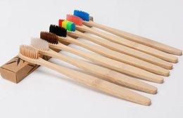 Vente en gros New Hot Natural Bamboo Brosse À Dents En Bois Brosse À Dents En Bois À La Main Doux Supprimer La Tache Approvisionnement De Santé Jetable