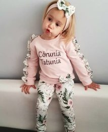 61e5c405635 2019 new children s clothing spring and autumn models girls long-sleeved  casual sweater suit + small floral leggings + hair band