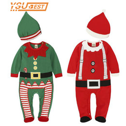 $enCountryForm.capitalKeyWord Australia - New Toddler Kid Christmas Cosplay Costumes Santa Claus Christmas Rompers Hat Set Cute Baby Suit Halloween Christmas