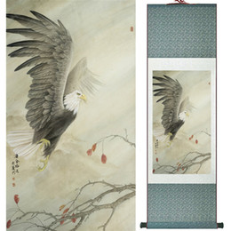 $enCountryForm.capitalKeyWord NZ - Eagle Painting Home Office Decoration Chinese Scroll Painting Eagle On Pine Tree Painting Eagle Picture Scgs120315